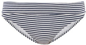 Melissa Odabash Provence Foldover Striped Bikini Briefs - Womens - Navy Stripe