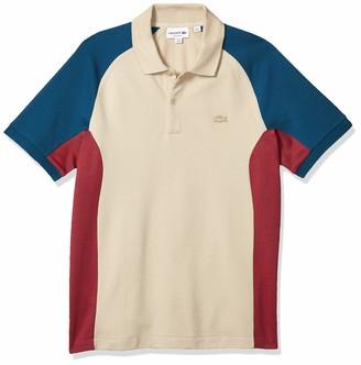 Lacoste Men's Short Sleeve Motion Quick Dry Colorblock Polo Shirt