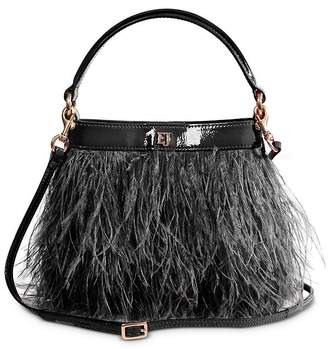 Eric Javits Shindig Ostrich Feather Small Crossbody Bag
