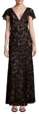 BCBGMAXAZRIA Lace Cut-Out Dress