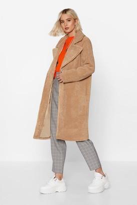 Nasty Gal Womens Fur-get Me Not Faux Fur Coat - Beige - S