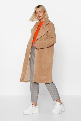 Nasty Gal Womens Fur-get Me Not Faux Fur Coat - Beige