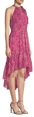 Elie Tahari Primrose Silk High-Low Dress