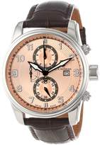 S. Coifman Men's SC0306 Chronograph Rose Gold Tone Dial Brown Leather Watch