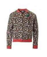 Little Marc Jacobs Leopard Print Cherry Jacket