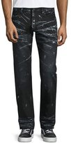 PRPS Barracuda Contrast-Whiskered Denim Jeans, Black