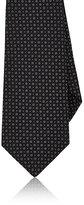 Kiton Men's Floral Jacquard Silk Necktie-BLACK
