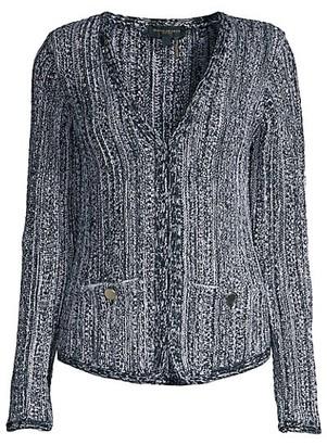 Donna Karan Knit Long-Sleeve Cardigan