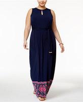 MICHAEL Michael Kors Size Border-Print Maxi Dress