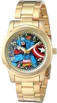 Marvel Men's W001774 The Avengers Captain America Analog-Quartz Gold Watch
