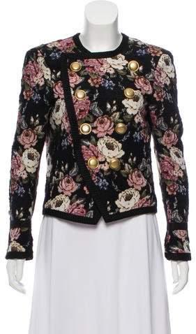 Saint Laurent Structured Jacquard Jacket