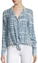 Bella Dahl Tie-Dyed Button Front Shirt