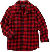 Osh Kosh Toddler Boy Two-Pocket Plaid Button-Down Shirt