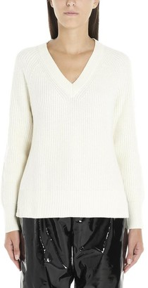 MICHAEL Michael Kors V Neck Ribbed Sweatshirt