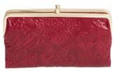 Hobo Women's 'Lauren' Leather Double Frame Clutch - Red