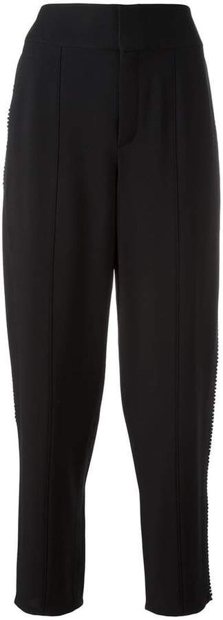 Chloé embroidered trim trousers