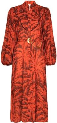 Johanna Ortiz Remembering Us palm-print shirtdress