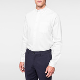 Paul Smith Men's Tailored-Fit Off-White Cotton Button-Down Shirt
