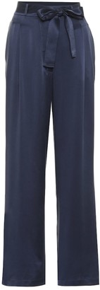 ASCENO Rivello high-rise silk pants