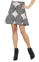 BCBGMAXAZRIA Peyton Battenburg Lace Jacquard Skirt