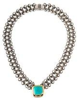 David Yurman Turquoise Pendant Necklace