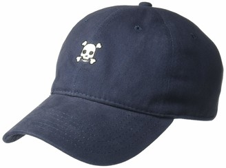 Concept One Men's Skull and Crossbones Embroidered Washed Baseball Cap