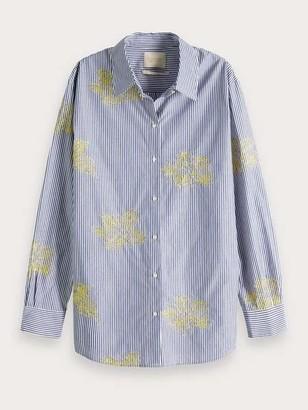 Maison Scotch Ebroidered Boyfriend Shirt - M / 18 - Combo B