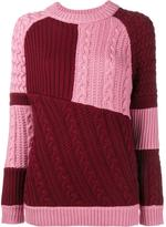 House of Holland oversized patchwork knit jumper - women - Merino - S/M
