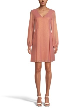INC International Concepts Inc Bow-Back Shimmer Shift Dress, Created for Macy's