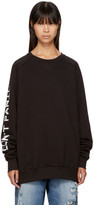Baja East Black dont Panic Sweatshirt