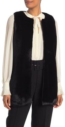 Diane von Furstenberg Faux Fur Vest (Petite)