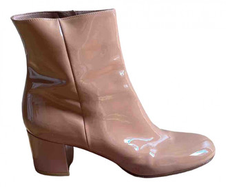 Gianvito Rossi Beige Patent leather Ankle boots