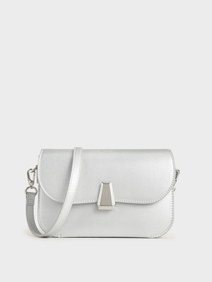 Charles & Keith Geometric Accent Evening Bag