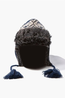 Forever 21 Geo Faux Fur Trapper Hat