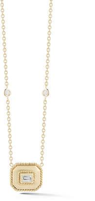Penny Preville Smaller Emerald Shape Necklace With Center Emerald Cut Diamond