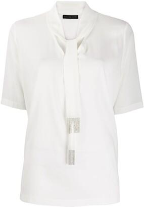 Fabiana Filippi ball-chain fringe blouse