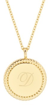brook & york 14K Gold Plated Charlie Initial Pendant