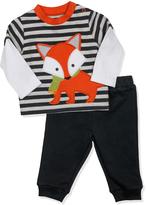 Wendy Bellissimo Black Fox Layered Top & Sweatpants - Infant