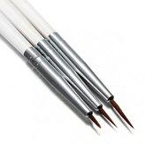 S&B 3pcs Acrylic Nail Art Liner Painting Drawing Pen Brush Set