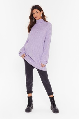 Nasty Gal Womens Roll On the Weekend Turtleneck Sweater - Lilac