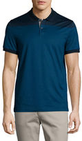 Michael Kors Mercerized Cotton English-Stripe Short-Sleeve Polo Shirt