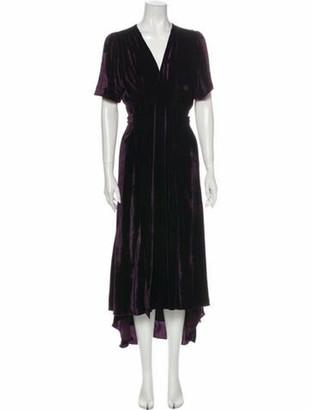 Azeeza Silk Long Dress Purple
