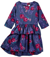 Tea Collection Fileteado Flor Peplum Dress (Toddler, Little Girls, & Big Girls)