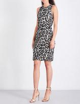 MICHAEL Michael Kors Leopard-print jacquard-knit dress
