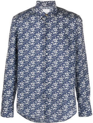 Paul Smith Floral Printed Cotton Shirt