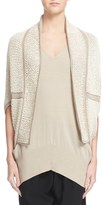 Zero Maria Cornejo 'Mac' Mesh Knit Organic Cotton Shrug