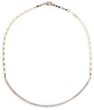 Lana Small Diamond Curve 14K Yellow Gold Necklace/16""