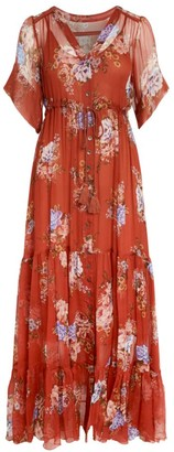 Johnny Was Drexl Floral Silk Maxi Dress