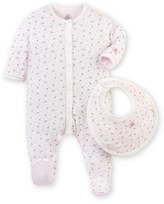 Petit Bateau Baby girls printed pajamas and bib