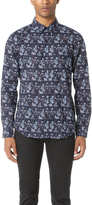 Club Monaco Short Sleeve Foulard Print Shirt